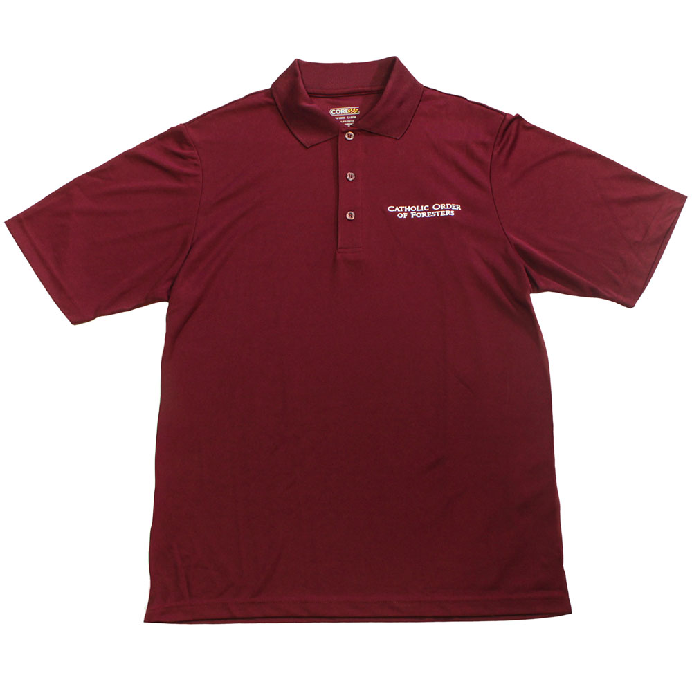 Mens burgundy polo shirt