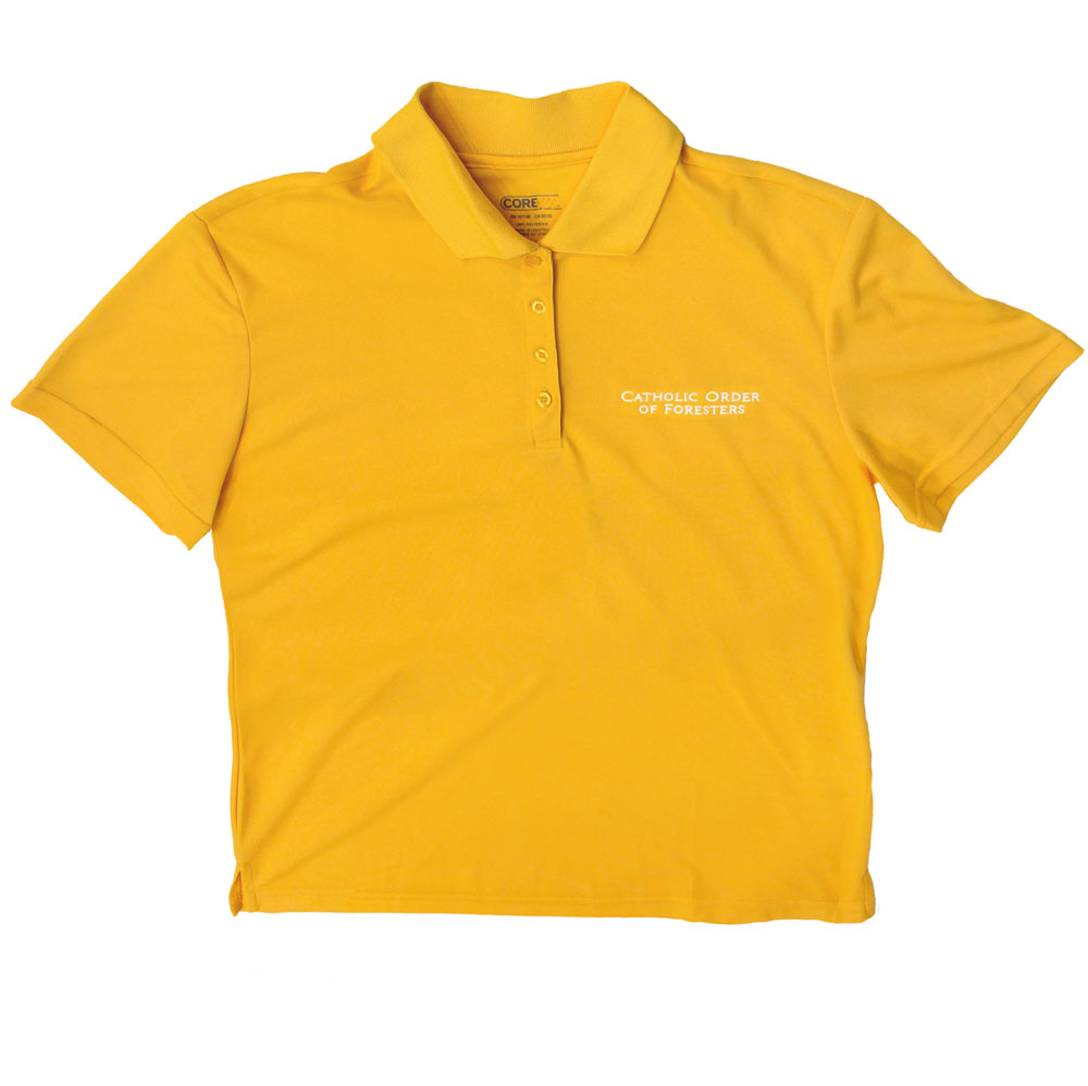Ladies campus gold polo shirt