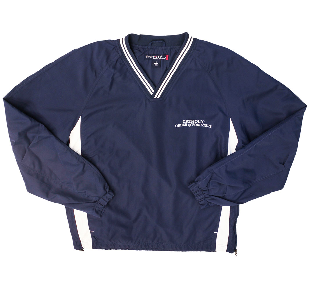 Navy pullover windbreaker