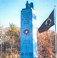 Image of Monument in the Northeast with COF's logo